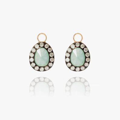 Dusty Diamonds 18ct Gold Jade Earring Drops