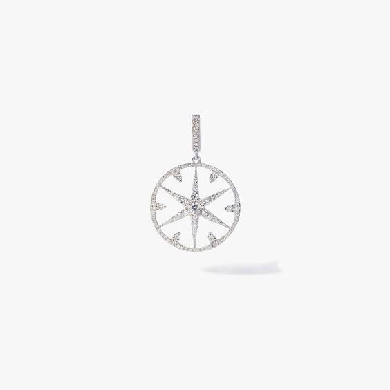 Mythology 18ct White Gold Diamond Small Star Charm   Annoushka jewelley