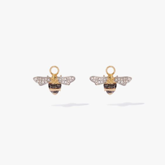 Mythology 18ct Gold Diamond Bee Earring Drops