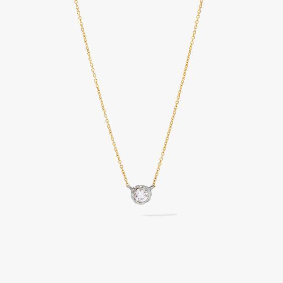 Love Diamonds 14ct Gold Solitaire Necklace