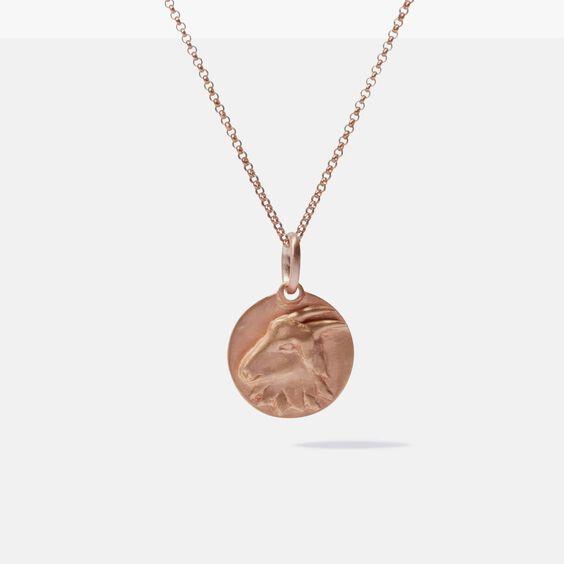 Mythology 18ct Rose Gold Capricorn Necklace
