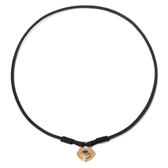Lovelock 18ct Gold Leather Evil Eye Necklace | Annoushka jewelley