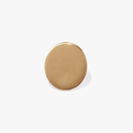 18ct Gold Single Polished Cufflink | Annoushka jewelley