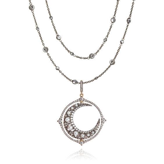 Mythology 18ct White Gold Moon Necklace | Annoushka jewelley