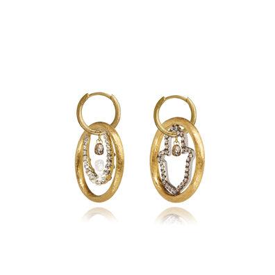 Hoopla 18ct Gold Diamond Luck Earrings