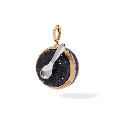 Mythology 18ct Gold Lapis Lazuli & Drusy Caviar Charm