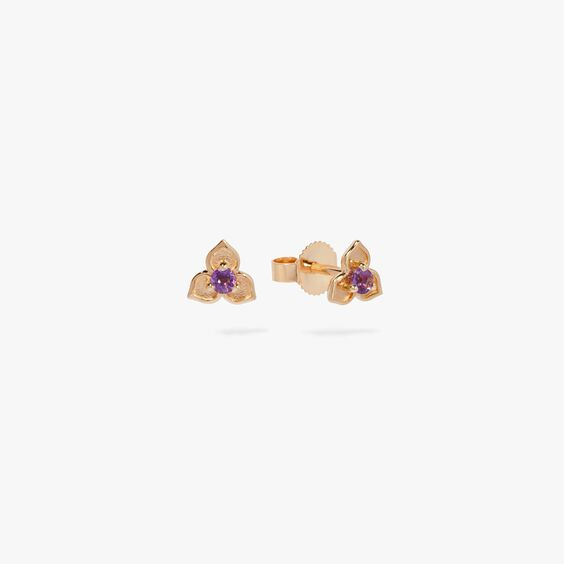 Tokens 14ct Gold Amethyst Studs
