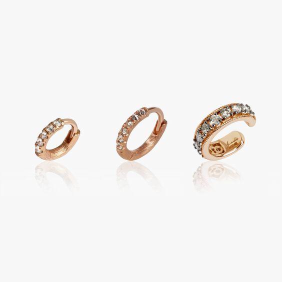 Dusty Diamonds 18ct Rose Gold Diamond Ear Trio | Annoushka jewelley