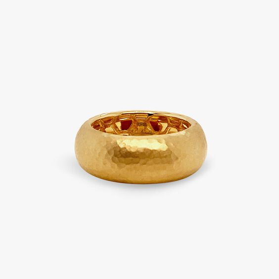 18ct Gold Organza 8mm Band Ring   Annoushka jewelley