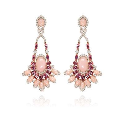 Sutra Pink Opal Diamond Earrings