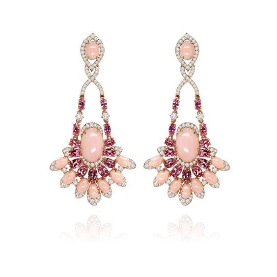Sutra Pink Opal Diamond Earrings | Annoushka jewelley