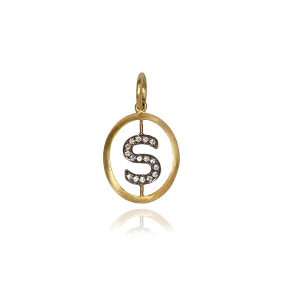 18ct Gold Diamond Initial S Pendant | Annoushka jewelley