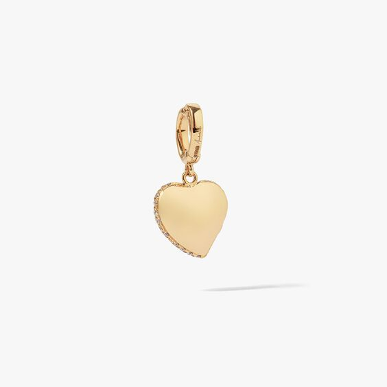 Mythology 18ct Gold Vintage Diamond Heart Charm