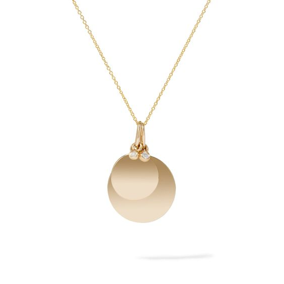 Tokens 14ct Gold Small Diamond Disc | Annoushka jewelley
