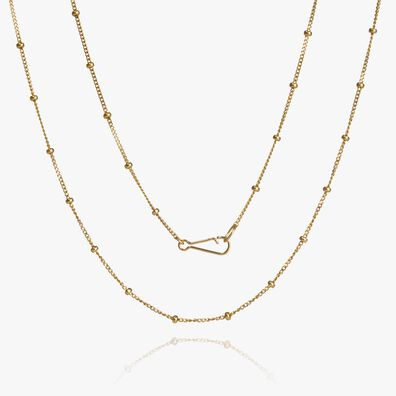 14ct Gold Saturn Long Chain
