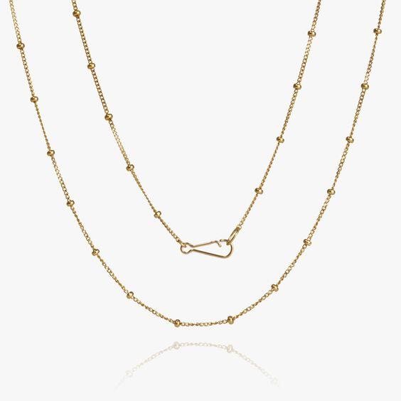 14ct Gold Saturn Long Chain | Annoushka jewelley