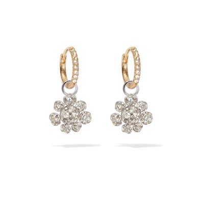 Marguerite 18ct White & Yellow Gold Diamond Earrings