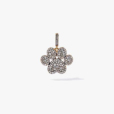 18ct Gold Diamond Paw Print Charm