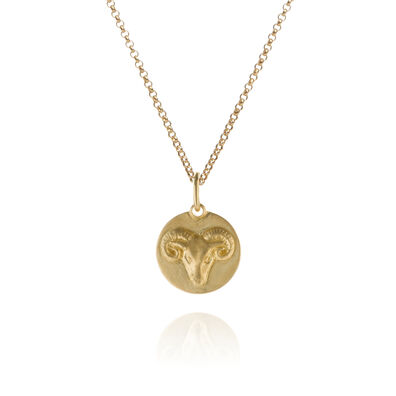 Mythology 18ct Gold Aries Necklace