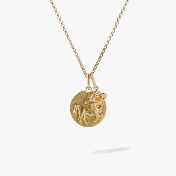 Gold Sagittarius & Citrine November Birthstone Necklace | Annoushka jewelley