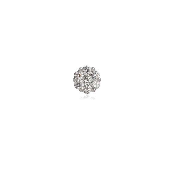 Daisy 18ct White Gold 0.71 ct Diamond Single Stud
