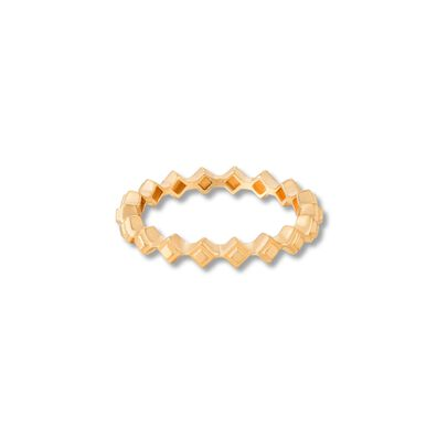Stepping Stone 18ct Gold Ring