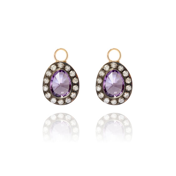 Dusty Diamonds 18ct Gold Amethyst Earring Drops | Annoushka jewelley