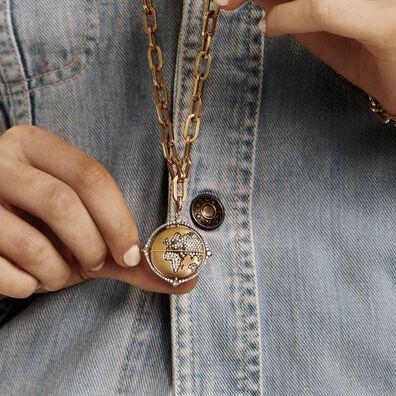 Mythology 18ct Gold Diamond Spinning Globe Pendant