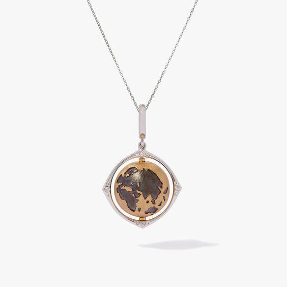 Mythology 18ct Gold Diamond Spinning Globe Necklace | Annoushka jewelley