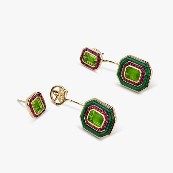 Unique 18ct Gold Radiance Peridot Jacket Earrings | Annoushka jewelley