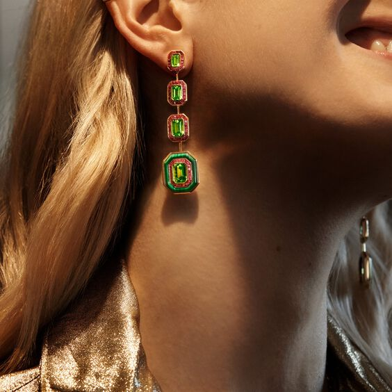 Unique 18ct Gold Radiance Peridot Earrings