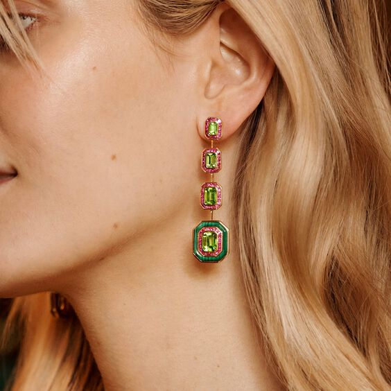 Unique 18ct Gold Radiance Peridot Earrings | Annoushka jewelley