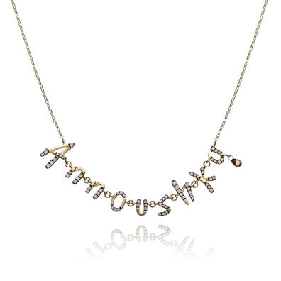 Personalised Gold Chain Letters Necklace