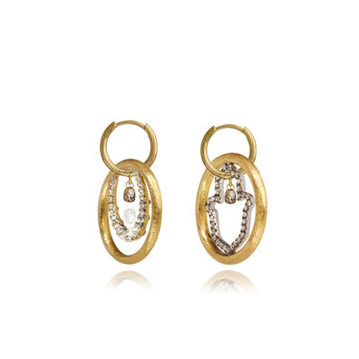 Hoopla 18ct Gold Diamond Luck Earrings