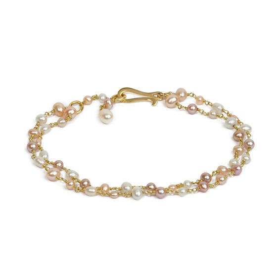 18ct Gold Seed Pearl Bracelet Chain | Annoushka jewelley