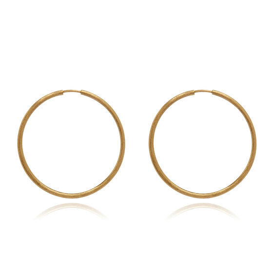 18ct Gold Medium Hoop Earrings | Annoushka jewelley