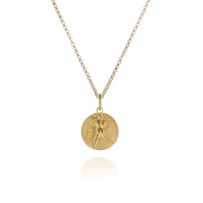 Mythology 18ct Gold Aquarius Necklace