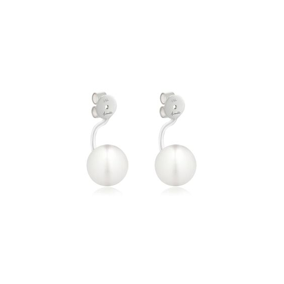 18ct White Gold Pearl Ear Jackets | Annoushka jewelley