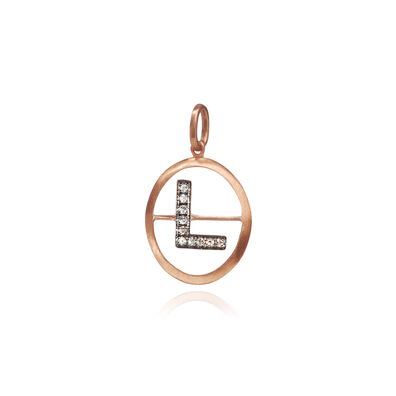 18ct Rose Gold Initial L Pendant
