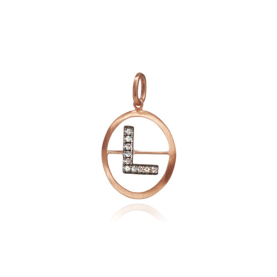 18ct Rose Gold Initial L Pendant | Annoushka jewelley