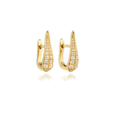 18ct Gold Diamond Hoop Earrings