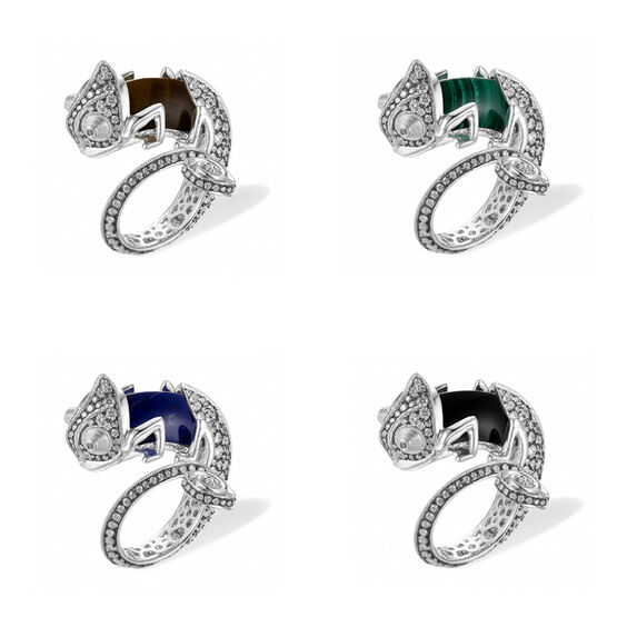 Unique 18ct White Gold Interchangeable Diamond Chameleon Ring | Annoushka jewelley