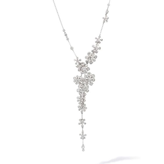 Marguerite 18ct White Gold Diamond Cocktail Necklace | Annoushka jewelley