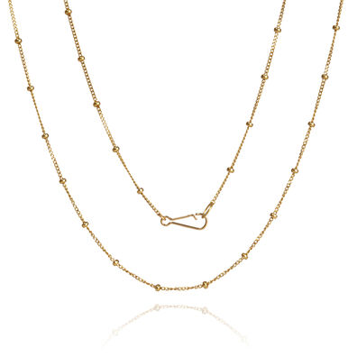 18ct Gold Saturn Long Chain