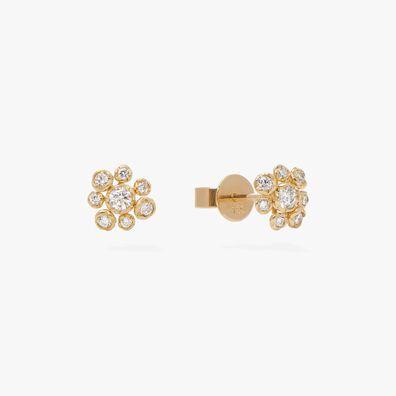Marguerite 18ct Gold Diamond Small Stud Earrings