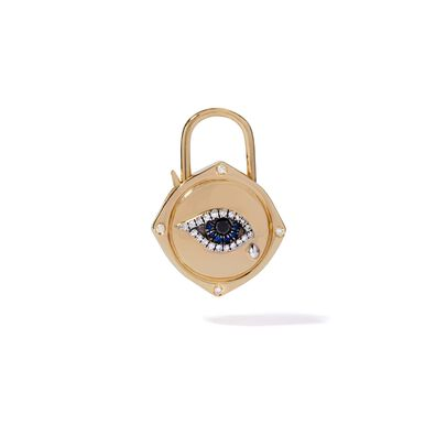 Lovelock 18ct Gold Sapphire Diamond Evil Eye Charm