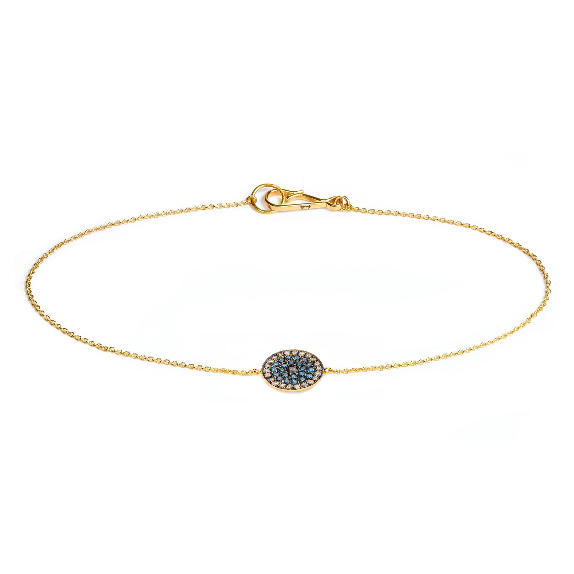 5be13b2e1d846 Love Diamonds 18ct Gold Diamond Evil Eye Bracelet