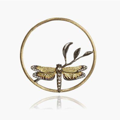 18ct Gold Diamond Dragonfly Hoopla