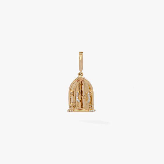 18ct Gold Church Doors Locket Charm Necklace | Annoushka jewelley