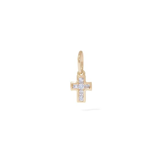 Tokens 14ct Gold White Sapphire Cross Pendant | Annoushka jewelley
